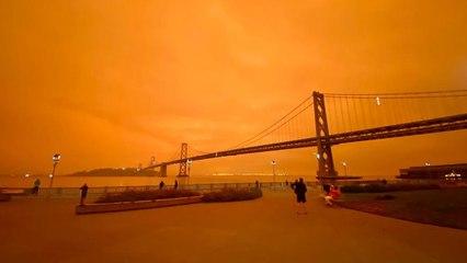 Incendios forestales de California tiñen los cielos de naranja en San Francisco