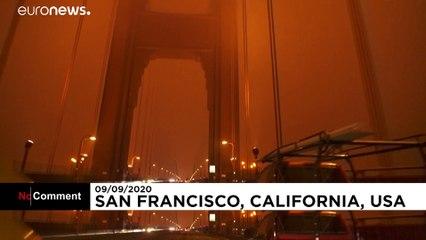 خورشید دودآلود آسمان سانفرانسیسکو را نارنجی و آخرالزمانی کرد