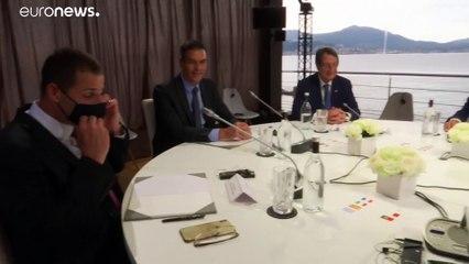 """Med-7 ad Ajaccio: Macron, Conte e Mitsotákis cercano la """"soluzione Mediterraneo"""""""