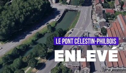 Troyes - Le pont Célestin-Philbois a été enlevé