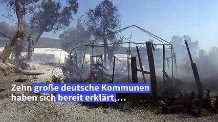 Zehn deutsche Kommunen wollen Flüchtlinge aus Moria aufnehmen
