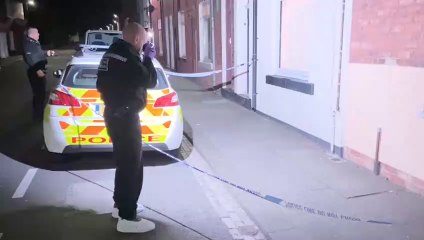 Police in Sheriff Street, Hartlepool on September 10