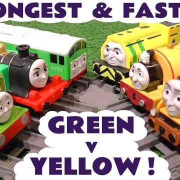 Thomas and Friends Green versus Yellow Challenge Competition with the Funny Funlings in this Family Friendly Full Episode English Toy Story for Kids from a Kid Friendly Family Channel