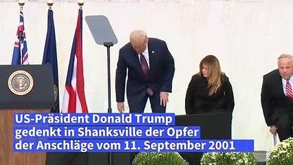 Trump und Biden gedenken der Opfer der 9/11-Anschläge auf getrennten Veranstaltungen