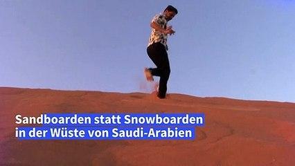 Sand statt Schnee: Snowboarden in der Wüste