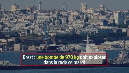 Brest : une bombe de 970 kilos doit exploser dans la rade ce mardi