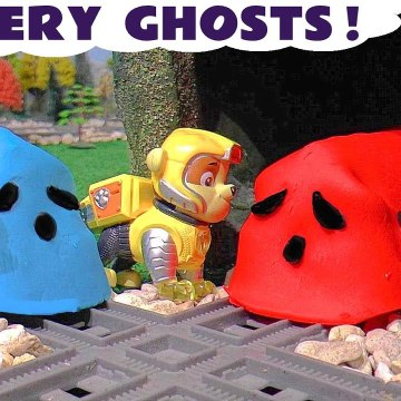 Paw Patrol Mighty Pups Mystery Ghosts Spooky Challenge with Thomas and Friends and the Funny Funlings in this Family Friendly Full Episode English Toy Story for Kids