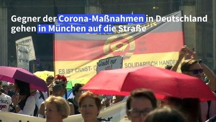 Gegner von Corona-Maßnahmen demonstrieren in München