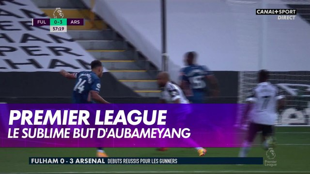 Le sublime but d'Aubameyang à Fulham