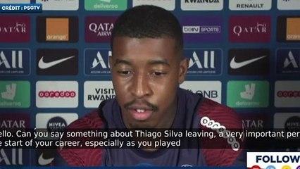 Presnel Kimpembe rend hommage à Thiago Silva