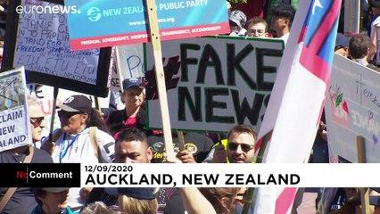 Nuova Zelanda: proteste anti-lockdown ad Auckland