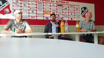 Altona 93 vs. HSV II - die PK mit beiden Trainern