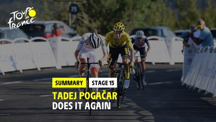 Tour De France Stage 15 Tadej Pogacar Wins Primoz Roglic Second On The Grand Colombier Road Cc