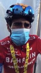 Mikel Landa (Bahrain-McLaren), tras la 15ª etapa del Tour de Francia