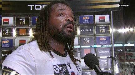 Mathieu Bastareaud réagit sur l'émotion de son retour à Mayol