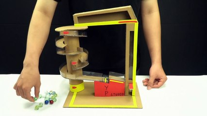 YP STUDIO - MARBLE RUN MACHINE - Make Things From Cardboard
