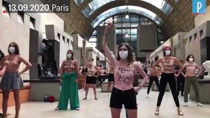 «Mes seins ne sont pas obscènes»: une vingtaine de Femen manifestent au Musée d'Orsay