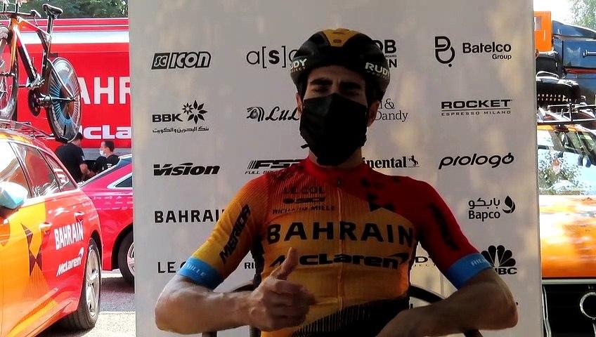 Mikel Landa (Bahrain-McLaren), en la segunda jornada de descanso del Tour 2020