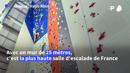A Mulhouse, ouverture de la plus haute salle d'escalade de France