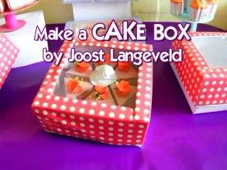 Make a paper CAKE BOX