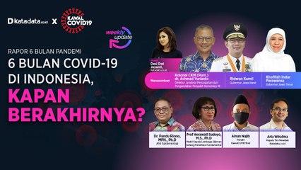 Katadata.co.id x KawalCovid19 Update Rapor '6 Bulan Covid-19 di Indonesia, Kapan Berakhirnya'