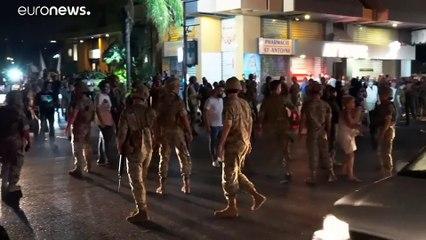 نشر عناصر للجيش اللبناني في بيروت بعد وقوع اشتباكات بين أنصار حزبين مسيحيين
