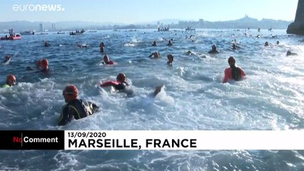 ویدئوی رقابت شنای دریایی «مونت کریستو»  در مارسی برغم همهگیریکرونا