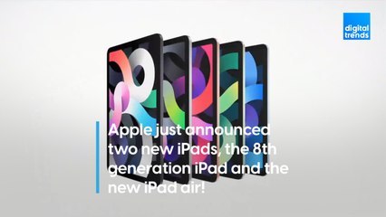 Apple just announced two new iPads, the 8th generation iPad and the new iPad Air!
