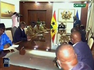 ORTM / Séance detravailentre le président du Ghana et la délégationMalienneduCNSP