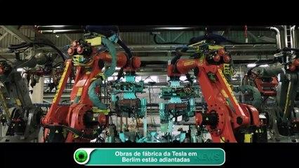 Obras de fábrica da Tesla em Berlim estão adiantadas