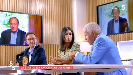 """Patrick Poivre d'Arvor parle du départ de Jean-Pierre Pernaut dans """"C à vous"""", le 15 septembre 2020, sur France 5"""