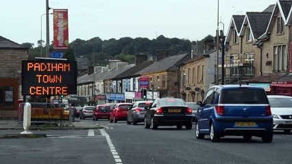 Traffic chaos through Padiham caused by temporary traffic lights put in place