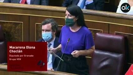 """Olona (Vox), a Iglesias: """"¿La cal ya no es tan viva desde la Moncloa?"""""""
