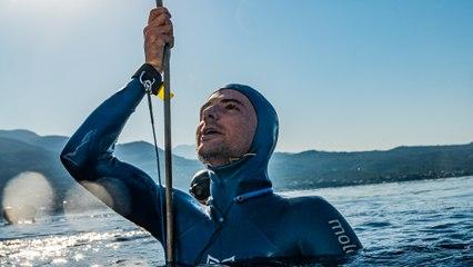 Nouveau record du monde d'apnée à 112 m pour Arnaud Jérald