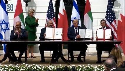 Emiratos Árabes Unidos y Bahréin normalizan relaciones con Israel con sendos acuerdos de paz