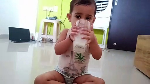 Cute baby drinking milk | she want to drinking milk