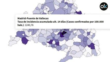 Estos son los 10 municipios y distritos de la Comunidad de Madrid con mayor incidencia de coronavirus