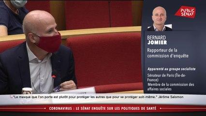 Masques : le sénateur Bernard Jomier attaque Jérôme Salomon sur les commandes « si tardives et si faibles »