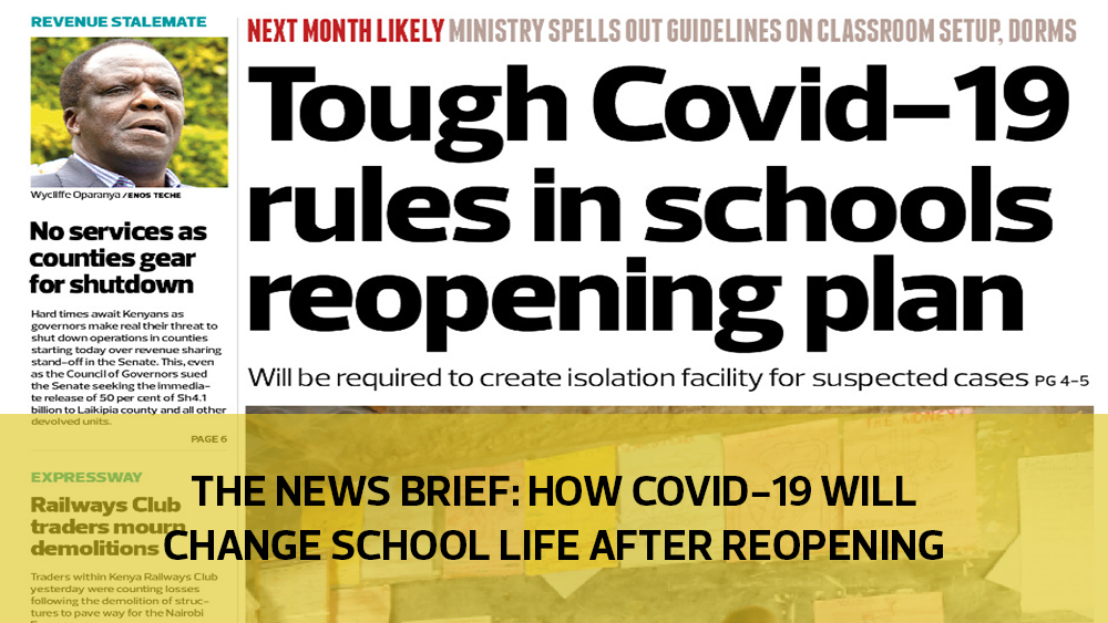 The News Brief: How Covid-19 will change school life after reopening