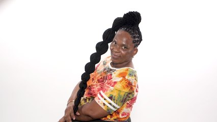 Loc Bubble Pony Tail | Cosmo's The Braid Up