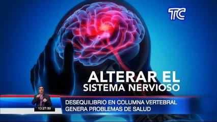 Salud: Desequilibrio en columna vertebral genera serios problemas
