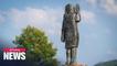 New bronze statue of Melania Trump unveiled in Slovenia