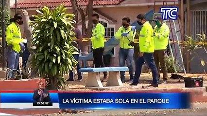 Video muestra asesinato en un asiento público en parque de la Alborada
