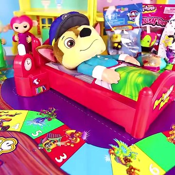 Paw Patrol Skye and Chase play Don't Wake Granny Challenge - Toys and Dolls