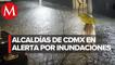 Lluvias torrenciales inundan calles y casas en la CdMx