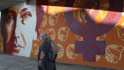 Inauguration de la fresque en hommage à Simone Veil