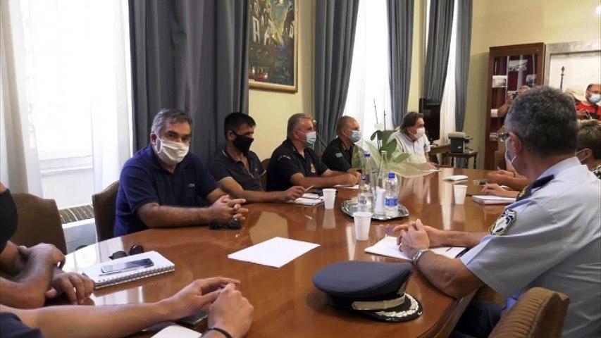 Λαμία: Έκτακτη σύσκεψη στην Περιφέρεια Στερεάς για τον «Ιανό» -  Ψυχραιμία, κατανόηση και υπευθυνότητα συνιστά ο Θ. Καρακάντζας