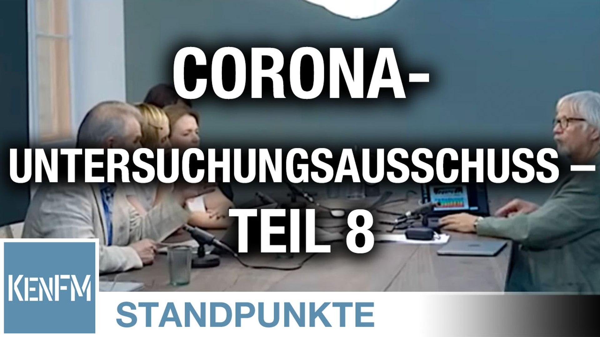 Corona-Untersuchungsausschuss – Teil 8 | Von Jochen Mitschka