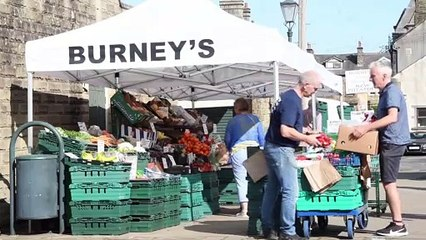Clitheroe Market benefits from customers not having to wear a mask