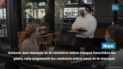 Ce qu'il faut faire et éviter avec un masque au restaurant